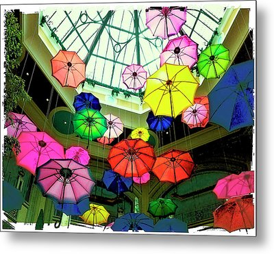 Floating Umbrellas In Las Vegas  Metal Print by Susan Stone