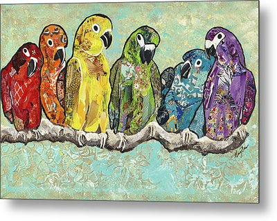 Flock Of Colors Metal Print