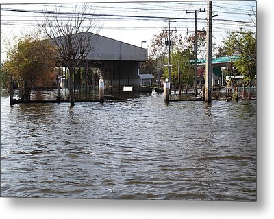Flooding Of Stores And Shops In Bangkok Thailand - 01134 Metal Print