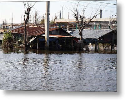 Flooding Of Stores And Shops In Bangkok Thailand - 01138 Metal Print