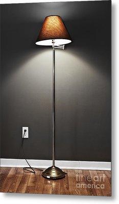 Floor Lamp Metal Print