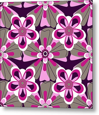 Metal Print featuring the digital art Floral 2  by Lisa Noneman
