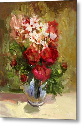 Floral 9 Metal Print by Mahnoor Shah