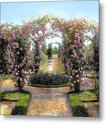 Floral Arch Metal Print by Terry Reynoldson