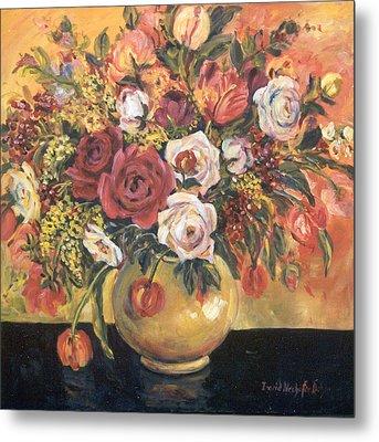 Floral Arrangement Metal Print by Alexandra Maria Ethlyn Cheshire