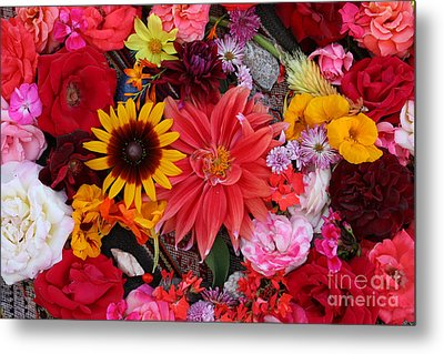 Metal Print featuring the photograph Floral Bounty by Jeanette French