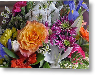 Floral Bouquet 6 Metal Print by Sharon Talson