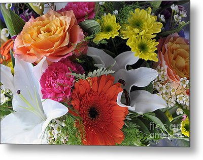 Floral Bouquet 7 Metal Print by Sharon Talson