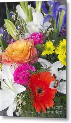 Floral Bouquet Metal Print by Sharon Talson