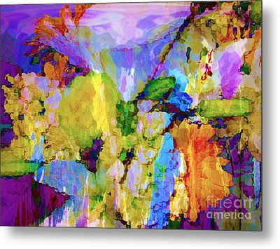 Floral Dreamscape Metal Print by Ann Johndro-Collins