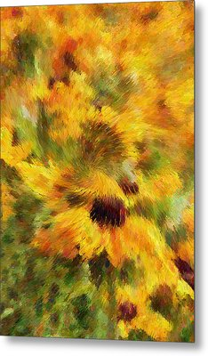 Floral Explosion Abstract Metal Print by Georgiana Romanovna