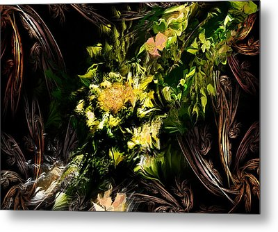 Metal Print featuring the digital art Floral Expression 020215 by David Lane