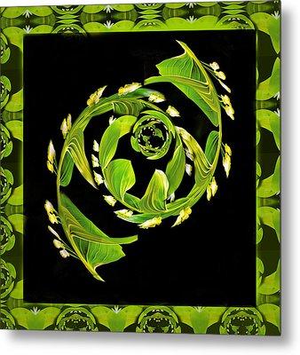 Floral Fantasia Metal Print by Jean Noren