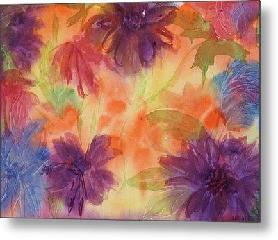 Floral Fantasy Metal Print by Ellen Levinson