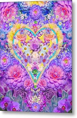 Floral Heart Springtime Metal Print