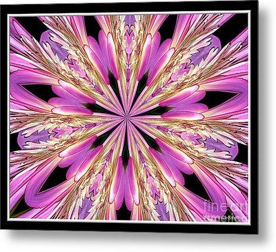 Floral Kaleidoscope  Waterlily Metal Print by Rose Santuci-Sofranko