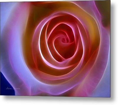 Floral Light Metal Print by Ann Croon