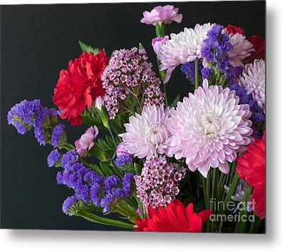 Floral Mix Metal Print by Ann Horn