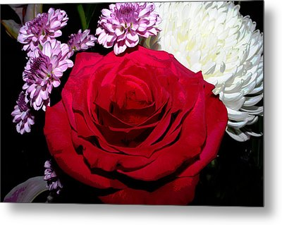 Floral Arrangement - Posterized Metal Print