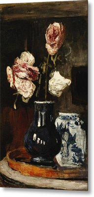 Floral Still Life Metal Print by Roderic O Conor