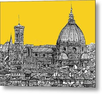 Florence Duomo  Metal Print by Adendorff Design