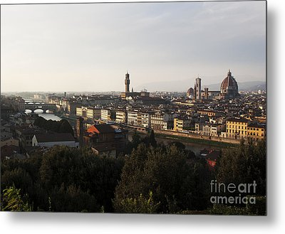 Metal Print featuring the photograph Florence Form The Piazza Michalengelo by Belinda Greb