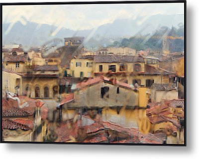 Metal Print featuring the photograph Florence In The Rain by Oscar Alvarez Jr