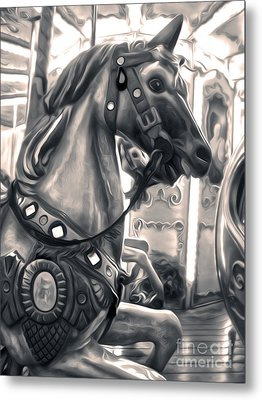 Florence Italy Carousel - 03 Metal Print by Gregory Dyer