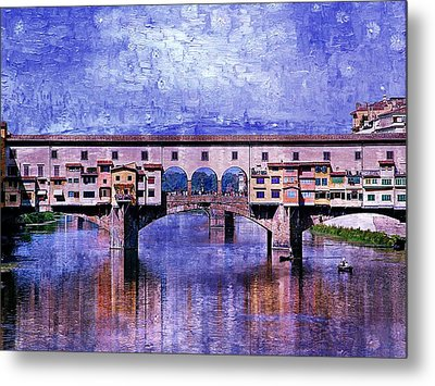 Metal Print featuring the photograph Florence Italy by Kathy Churchman