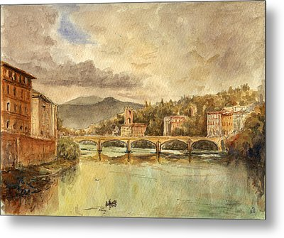 Florence Metal Print by Juan  Bosco