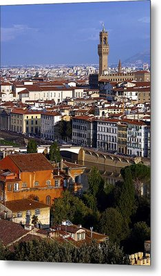 Metal Print featuring the photograph Florence Morning 2 by Henry Kowalski
