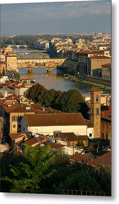 Metal Print featuring the photograph Florence Morning 3 by Henry Kowalski