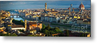 Florence Panorama Metal Print by Inge Johnsson