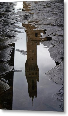 Metal Print featuring the photograph Florence Reflection by Henry Kowalski