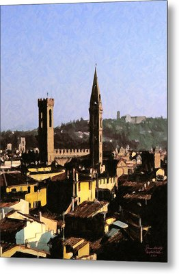 Florence Towers Metal Print by Spyder Webb
