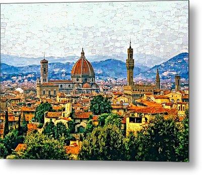 Florence Watercolor Metal Print by Steve Harrington