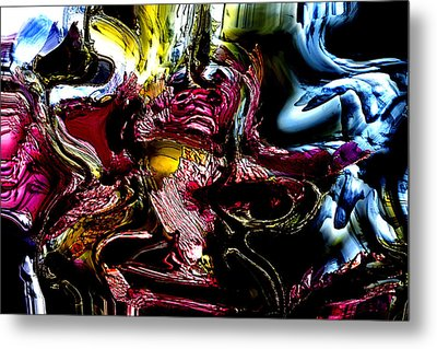 Metal Print featuring the digital art Flores' Darker More Uncomfortable Twin by Richard Thomas