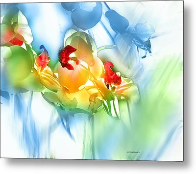 Metal Print featuring the photograph Flores En La Ventana by Alfonso Garcia