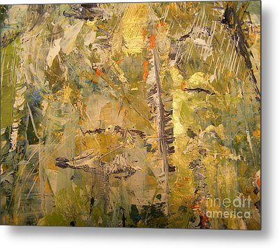 Metal Print featuring the painting Florida Feather by Nancy Kane Chapman
