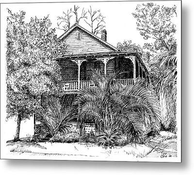 Florida House Metal Print by Arthur Fix
