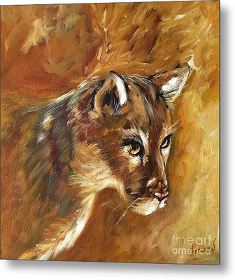 Florida Panther Metal Print by Karen  Ferrand Carroll
