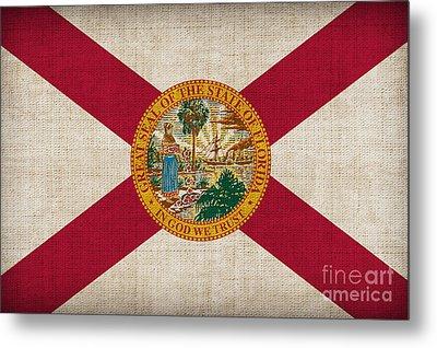 Florida State Flag Metal Print by Pixel Chimp