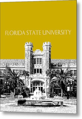 Florida State University - Gold Metal Print by DB Artist