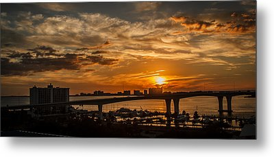 Metal Print featuring the photograph Florida Sunset by Jane Luxton