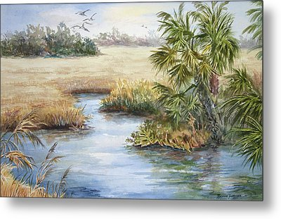 Metal Print featuring the painting Florida Wilderness IIi by Roxanne Tobaison