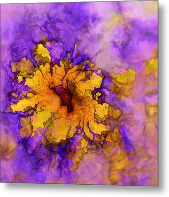 Floro - 50b Metal Print by Variance Collections