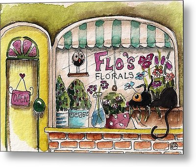 Flo's Flowers Metal Print by Lucia Stewart