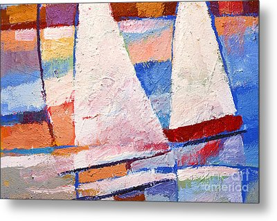 Flow Impasto Metal Print by Lutz Baar