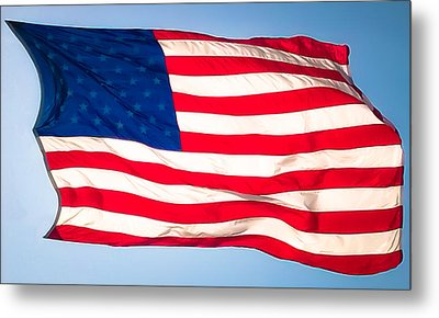 Flow Of Freedom Metal Print by Karen Wiles