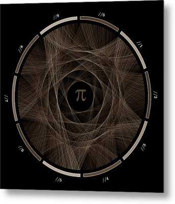 Flow Of Life Flow Of Pi #2 Metal Print by Cristian Vasile